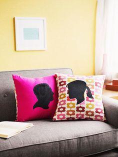 DIY Silhouette Pillows