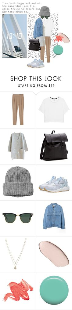 """""""happy and sad"""" by linnettebar ❤ liked on Polyvore featuring Elite, Monki, Pinko, NIKE, Ray-Ban, LC Lauren Conrad and Jin Soon"""