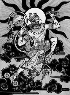Hanuman Pics, Hanuman Images, Shri Hanuman, Hanuman Tattoo, Shri Ram Wallpaper, Hanuman Ji Wallpapers, Indian Contemporary Art, Mandala Art Lesson, Indian Folk Art