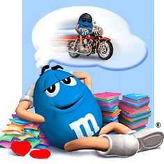 M and Ms - Dreams... Favorite Candy, Most Favorite, Favorite Color, M&m Characters, Fictional Characters, M & M Chocolate, House Of M, Melt In Your Mouth, Shades Of Blue