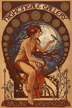 * HAIR Modern Mucha (Ashley Claypool of Lantern Press, Seattle, WA)