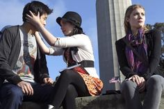 Still of Skyler Samuels, Ki Hong Lee and Grace Phipps in The Nine Lives of Chloe King