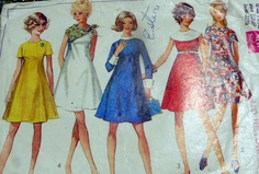 MOD VTG 1960s DRESS Sewing Pattern 10/32.5 | eBay