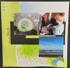 Scrapbooking with Dylusions Layout by Steph Brubaker