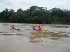 Kayaking on the Tambopata River- Amazon Peru with Wasai Tambopata Lodge