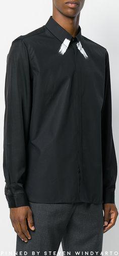 Neil Barrett - Stripe Embellished Shirt #shirts #neilbarrett