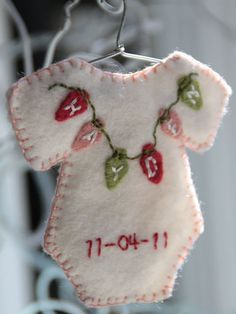 "baby ornament  ""OH I LOVE THIS ~ TIME FOR 5 OF THEM, OH and five for my grandbabies."""