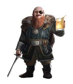 Male Dwarf Cleric of Cayden Cailean - Pathfinder PFRPG DND D&D 3.5 5E 5th ed d20 fantasy