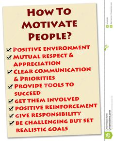 🙂People motivation stock illustration.🙂 #howtomotivate🙂#howtomotivateyourself 🙂#howtomotivatemyself🙂 Motivational People, Work Goals, Clear Communication, How To Motivate Employees, Mutual Respect, Environmental Factors, Positive Reinforcement, Priorities, Favorite Quotes