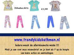 Leuke chihuahua t-shirts voor slechts € 11,99 bij www.trendykidsbathmen.nl.   De nieuwe update staat nu online!