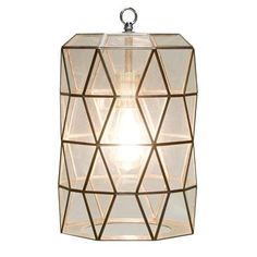 Drum Pendant, Chandelier Pendant Lights, Lantern Pendant, Chandeliers, Origami, Glass Pendants, Glass Lamps, Glass Shades, Clear Glass