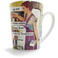 NEW Anne Taintor Mug Cup Funny Retro Fun Gift - NERVOUS BREAKDOWN