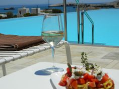 Located in Folegandros, an island that has kept its Aegean legacy untouched by time, Anemi boutique hotel was created to guarantee an amazing hospitality experience combining contemporary design and Cycladic architecture. Menu Restaurant, White Wine, Alcoholic Drinks, Greek, Traditional, Island, Dishes, Summer, Food