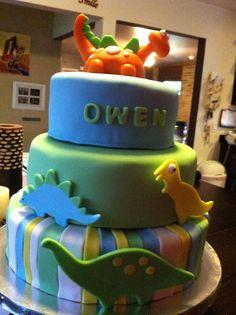 Dinosaur baby shower cake.  -cakes by Eron