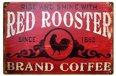 Red Rooster Brand Coffee Country Sign ** Check out this great product. Note:It is Affiliate Link to Amazon.