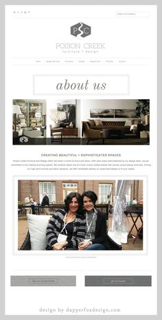Poison Creek Furniture and Design Park City, Utah - Brand New Website Design and Branding by Dapper Fox Design    //   Website Design - Branding - Logo Design - Brand - Entrepreneur Blog and Resource