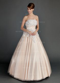Quinceanera Dresses - $223.99 - Ball-Gown Strapless Floor-Length Tulle Charmeuse Quinceanera Dress With Ruffle Beading Flower(s) (021015713) http://hochzeitstore.com/Ball-gown-Strapless-Floor-length-Tulle-Charmeuse-Quinceanera-Dress-With-Ruffle-Beading-Flower-S-021015713-g15713