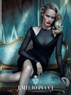 Amber Valletta for Emilio Pucci Ad campaign (Fall 2012) by Mert & Marcus