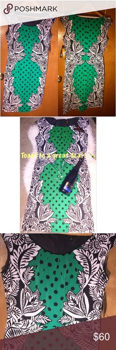 Amazing Green and Black Dress NWT ! Beautiful dress with vivid color, amazing detail (pictured), soft and super stretchy fabric and most importantly... a great price. Wear to work, brunch, a date or even Christmas dinner! Great for a polished and finished look. Size 8 and offer a lot of stretch. Reasonable offers accepted! 💫Bundle and save! 💫 Dresses