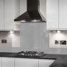 Grey Splashbacks , 6mm thick, back-painted glass splashback with polished edges made to measure