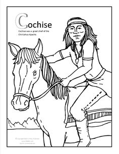 cochise coloring page at gilabencom