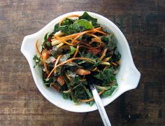 rainbow salad with peanut ginger dressing by everybody likes sandwiches