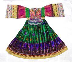 Kuchi Afghan Banjara Tribal Boho Hippy Style Pure Vintage Handmade Dress UD-007