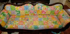 I want it! Made with vintage Lilly Pulitzer fabric.