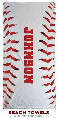 Perfect for any baseball player! Baseball beach towels -- a summer essential!