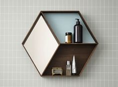 Buy your Oak Wall Wonder Mirror with Shelves by ferm LIVING here. Practical and pretty, this wall mirror with shelves is stunning. Made of smoked oak veneer. Has small shelves for stor Grid Wallpaper, Rustic Wall Mirrors, Mirror With Shelf, Hallway Mirror, Mirror Bedroom, Mirror Set, Bathroom Mirrors, Teen Bedroom, Bedroom Ideas