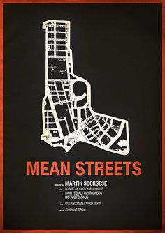 Mean Streets, this is cleaver by using the gun to represent how it is danger on the street