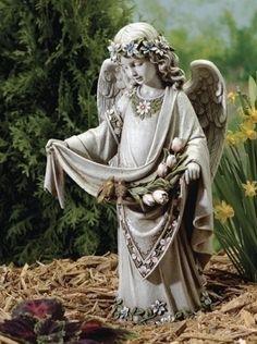 ROMAN Joseph Studio Kneeling Praying Garden Statue Angel Angels
