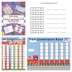 Unifix Cubes Print & Play Combinations of 5 & 10 Freebie « United Teaching