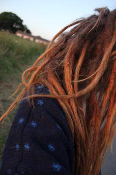 dreads.orange.ombre.want.