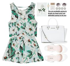 But I should thank you for taking my blindfold off, now I ain't jaded no more. by astoriachung on Polyvore featuring polyvore, fashion, style, MINKPINK, Miu Miu, MICHAEL Michael Kors, Dogeared, Kate Spade, ASOS, Monki, clothing, white, floralprint and summer2015