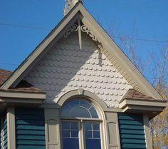 Half Round Or Scallops In White Siding Beaxh House Options Pinterest White Siding Porch