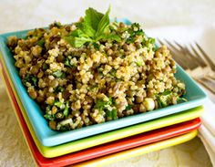 Quinoa Lentil Salad - from Ruth & Tim at Eat Well Eat Cheap - absolutely scrumptious, with a lemon zest, fresh basil, garlic flavor combo. Try it - you'll love it!