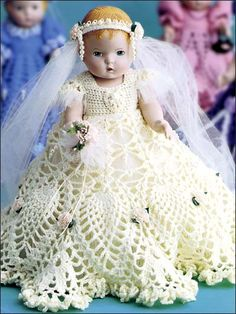 Wedding Gown Victorian Dolly Dress FREE PATTERN