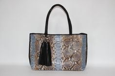 Isn't this small two-tone python Small Olivia tote adorable? The perfect size, to fit everything you need.