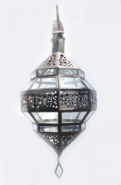 Small Jeweled Diamond Moroccan Glass Lanterns. [$189.00]
