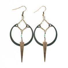 Turquoise Ring Earrings Black, $29, now featured on Fab.