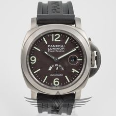 #Panerai #PAM57C #Luminor Power Reserve 44mm Titanium Case Power Reserve Tobacco Hobnail Dial Automatic Watch PAM00057 C #OCWatchCompany #WatchStore #WalnutCreek