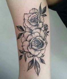 Black and grey rose arm tattoo Latest Tattoos, Up Tattoos, Future Tattoos, Body Art Tattoos, Small Tattoos, Sleeve Tattoos, Tattoos For Women, Tattos, Tattoos Skull