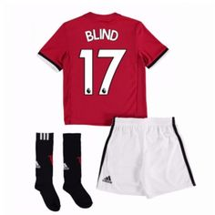 Manchester United Daley Blind 17 kläder Barn 17-18 Hemmatröja Kortärmad  #Billiga fotbollströjor Neymar, Messi, Daley Blind, Marcus Rashford, Manchester United, Ronaldo, Trunks, Sweatpants, The Unit