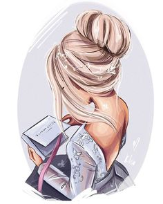 Ideas For Hair Drawing Sketches Cartoon Beautiful Girl Drawing, Cute Girl Drawing, Cartoon Girl Drawing, Girl Cartoon, Cartoon Hair, Girl Drawing Sketches, Girly Drawings, Anime Girl Drawings, Girl Sketch