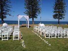 Beautiful day for the Wedding Ceremony of Amanda & Larry 14Sept2014 Suttons Beach Redcliffe #suttonsbeachwedding #weddingredcliffe Styling by www.breezeweddings.com.au #breezeweddingsaustralia