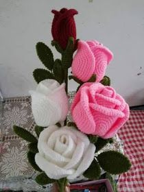 ergahandmade: Big Crochet Roses + Diagrams