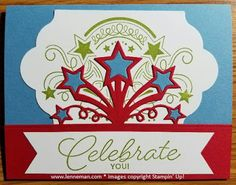 Dena Lenneman, Stampin' Up! Demonstrator: Birthday Blast Star Blast Edgelits Version 2