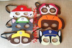 Paw Patrol Felt Masks / Paw Patrol Birthday by SuperFlySprouts