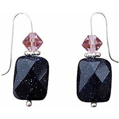 Shop for Beadwork By Julie Blue Goldstone and Crystal Earrings. Free Shipping on orders over $45 at Overstock.com - Your Online Jewelry Shop! Get 5% in rewards with Club O! - 13984950
